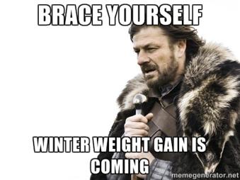 winter weight gain meme