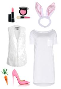 Polyvore | DIY Halloween Costume | Bunny Rabbit