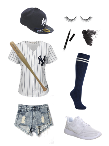 Last minute diy halloween costumes for basic babes basic brook polyvore diy halloween costume baseball player solutioingenieria Choice Image