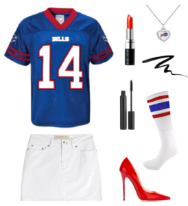 Polyvore | DIY Halloween Costumes | Buffallo Bills Football