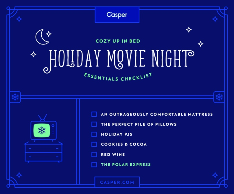 Holiday Movie Night Essentials | Christmas Movies | Casper Matress